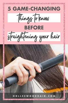 Straightening your hair got you down? Are you looking for some awesome hair straightening tricks and hacks? These 5 expert tips will totally change the game and make your life so much easier! #hairstraightener #straighthair #hairtips #hairhacks Best Hair Care Products, Hair Styling Products, Straightening Hair Tips, Hair Facts, Best Beauty Tips, Beauty Hacks, Shaving Tips, Natural Hair Care Tips, Healthy Hair Tips