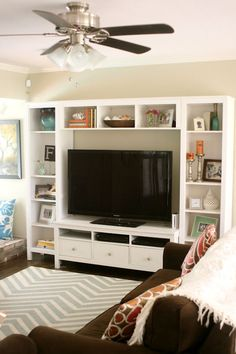 ideas living room tv wall ikea tvs for 2020 Living Room Tv, Apartment Living, Home And Living, Dining Room, Bedroom Tv Stand, Tv In Bedroom, Master Bedroom, Trendy Bedroom, Tv Stand Decor