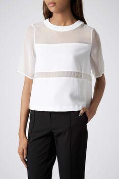 e21fb6b9ffa0e Mesh white top Theory Clothing