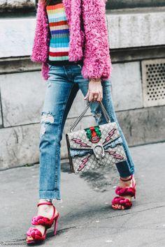 Pfw Paris Fashion Week Fall 2016 Street Style Collage Vintage Chiara Ferragni…