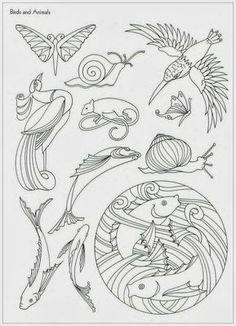 """Photo from album """"Art Nouveau Designs"""" on Yandex. Motifs Art Nouveau, Design Art Nouveau, Art Nouveau Pattern, Pattern Art, Art Design, Doodle Drawing, Illustration Art Nouveau, Jugendstil Design, Bijoux Art Deco"""