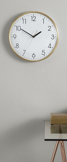 Disley wall clock, £29 MADE.COM At a first glance, you see an elegant, classicly designed clock with impressive proportions. But wait. There's more to this traditional timepiece than meets the eye.