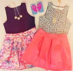 Super cute Sumer outfit! Also cute for school