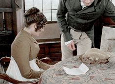 Pride and Prejudice. How he takes her hand ;)