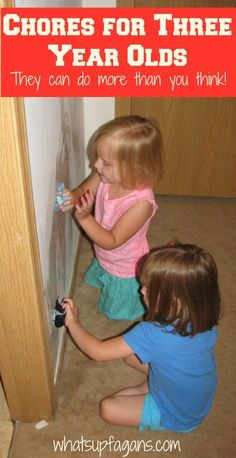 Regular Chores for Three Year Olds - They can do more than you think! whatsupfagans.com