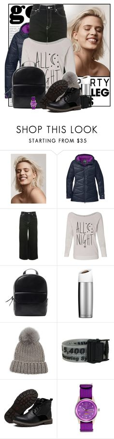 """Go Sporty 👟"" by pusja76 ❤ liked on Polyvore featuring Oris, Outdoor Research, Topshop, Eugenia Kim, Off-White, Triwa, denimtrend and widelegjeans"