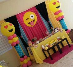Emoji Decoration Ideas Luxury Aniela S Emoji Party sophia D Bay 13th Birthday Parties, 11th Birthday, Birthday Party Themes, Birthday Ideas, Sleepover Party, Slumber Parties, Emoji Decorations, Emoji Theme Party, Lorie