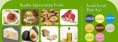 Ayurveda KAPHA - Aggravating Foods - More KaphaTips: http://www.foodpyramid.com/ayurveda/kapha-dosha/ #kapha #dosha #ayurveda