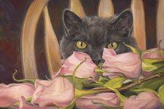 """Eyes on Things"", oil on panel, 8"" x 12"", by Lucie Bilodeau."