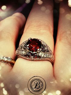 Keep safe while venturing out this January with garnet! Garnet is thought to keep it's wearer safe during their travels. Not to mention, it's a beautiful gem. Available at Bella Jewelers!