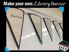 Secondary Sara: Literary Banners: English Classroom Craft