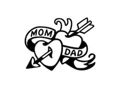 Mum And Dad Tattoos, Twin Tattoos, Tattoos For Daughters, Mom Tattoos, Future Tattoos, Sleeve Tattoos, Tatoos, Joker Card Tattoo, Mom Dad Tattoo Designs