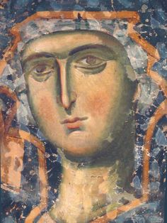 Лик Богородицы Religious Images, Religious Icons, Religious Art, Byzantine Icons, Byzantine Art, Our Lady Of Lourdes, Orthodox Icons, Medieval Art, Christian Art