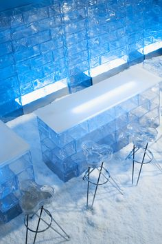 Thanks to Snow Business GmbH. Shop Interior Design, Retail Design, Store Design, Snow Effect, Artificial Snow, Ice Hotel, Ice Bars, Ice Blocks, Hotel Reception
