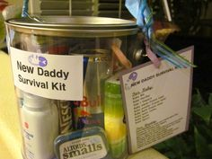 New Daddy Survival Kit  .....because new Daddy deserves a gift too.