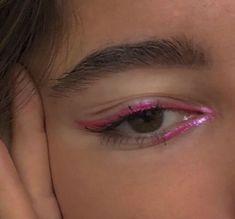 Indie Makeup, Edgy Makeup, Makeup Eye Looks, Creative Makeup Looks, Eye Makeup Art, Cute Makeup, Makeup Goals, Pretty Makeup, Simple Makeup