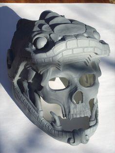 Quetzalcoatl cast resin snake skull mask blank by RavenKingRelics, $174.00