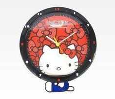 Hello Kitty swinging wall clock