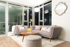 Such a beautiful living room - the grey is beautiful!