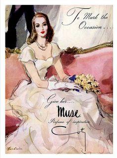 Publicité du parfum Muse de François Coty #coty