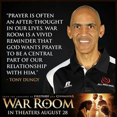 War Room  Tony Dungy Christian Spiritual Quotes, Spiritual Messages, Christian Quotes, Bible Verses Quotes, Bible Scriptures, Prayer Changes Things, Inspirational Poems, Proverbs 31 Woman, Christian Movies