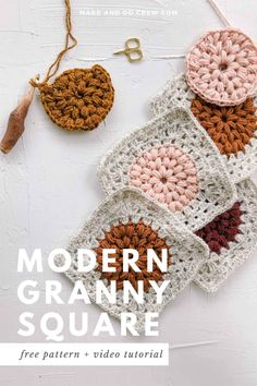 How to Turn a Crochet Circle into a Granny Square » Make & Do Crew Granny Square Pattern Free, Granny Square Crochet Pattern, Crochet Squares, Crochet Blanket Patterns, Afghan Crochet, Bag Crochet, Crochet Yarn, Free Crochet, Crochet Cushions