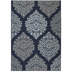 Mohawk Home Indigo Block Print Printed Area Rug, Blue