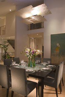 Table, chairs, lighting