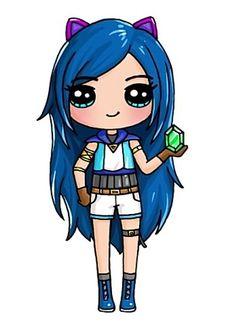 It s Funneh Kawaii Girl Drawings, Cute Animal Drawings Kawaii, Cute Easy Drawings, Cute Girl Drawing, Cartoon Girl Drawing, Disney Drawings, Cartoon Drawings, Cartoon Art, Cute Kawaii Girl