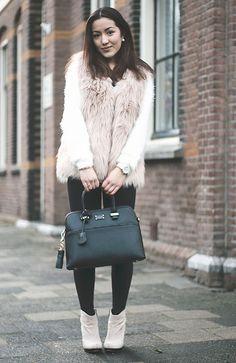 Jiami J - Paul's Boutique London Ltd. Bag, New Look Fur Jacket, Topshop Jeans - Furry