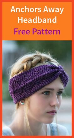 Anchors Away Headband Free Pattern