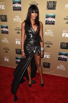 """Naomi Campbell attends the premiere screening of FX's """"American Horror Story: Hotel"""" at Regal Cinemas L.A. Live on October 3, 2015 in Los Angeles, California."""
