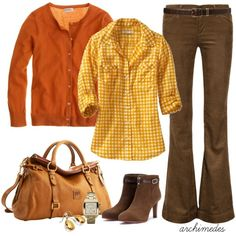 Delicious Autumn by archimedes16 on Polyvore featuring J.Crew, Old Navy, Goldsign, Tory Burch, Dooney & Bourke, Michael Kors, Blue Nile, ankle boots, gingham shirts and cardigans