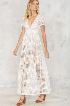 Bondi Crochet Maxi Dress - Clothes | Midi + Maxi | LWD | Summer Whites