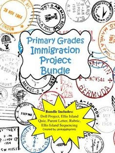 Immigration Project Bundle for Elementary Level: Doll project, Ellis Island activities