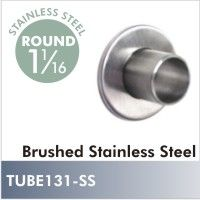 Designer Stainless Steel 3 Hole Flange For 1 Inch And Inch Rod. One  Individually Packaged Flange.