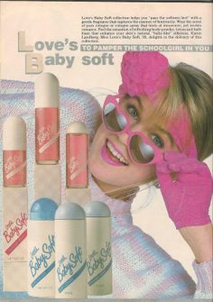 Love's Baby Soft Perfume Ad in Teen Magazine August 1985 80s