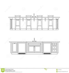 Kitchen Island Elevation sample kitchen elevations | shop drawings | pinterest | kitchens