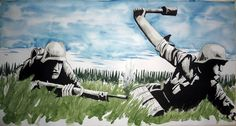 """""""Ashes of the Wake"""" 30'' x 16''. watercolor,ink"""