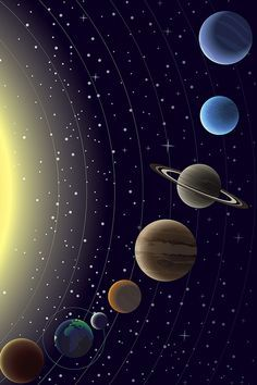 Planets – high-quality wall murals with free US delivery