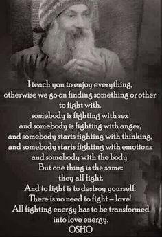 To fight is to destroy yourself