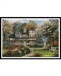 """""""Victorian Home"""" Artwork of Dominic Davison (Artecy Cross Stitch) Counted Cross Stitch Patterns, Cross Stitch Embroidery, Cross Stitches, Welcome Home Blog, Belle Image Nature, Casa Anime, Home Buying Tips, New England Homes, Foto Art"""