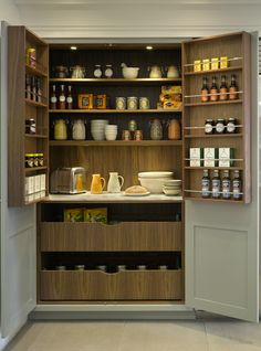 Lovely larder cupboard - really like the huge, deep drawers in the bottom.