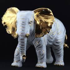 Deco Elephant, Elephant Head, Elephant Love, Pottery Sculpture, Sculpture Art, Sculptures, Cutest Animals On Earth, Animals And Pets, China Painting