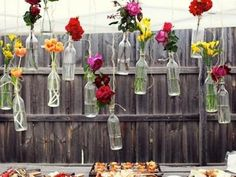 DIY Hanging Flower Vases {party decor}