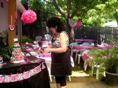 hot pink graduation decorations | Zebra Print and Hot Pink 4th Birthday Party