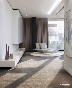 U Shaped Modern Family Home by SAOTA  glamor style bedroom