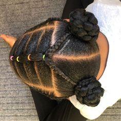 Black Baby Girl Hairstyles, Little Girls Natural Hairstyles, Cute Toddler Hairstyles, Kids Curly Hairstyles, Princess Hairstyles, African Kids Hairstyles, Hairstyles Videos, Little Girl Braids, Braids For Kids