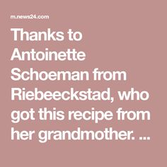 """Thanks to Antoinette Schoeman from Riebeeckstad, who got this recipe from her grandmother. """"This recipe is a hit,"""" she says. """"I've been making it for years and my guests enjoy it hugely. Onion Salad, Salad Recipes, Cooking Recipes, Thankful, Banana, How To Make, Food, Salads, Cakes"""