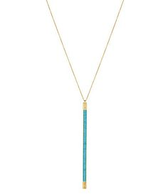 House of Harlow 1960 Age of Antiquity Bar Chain Pendant Necklace #Dillards